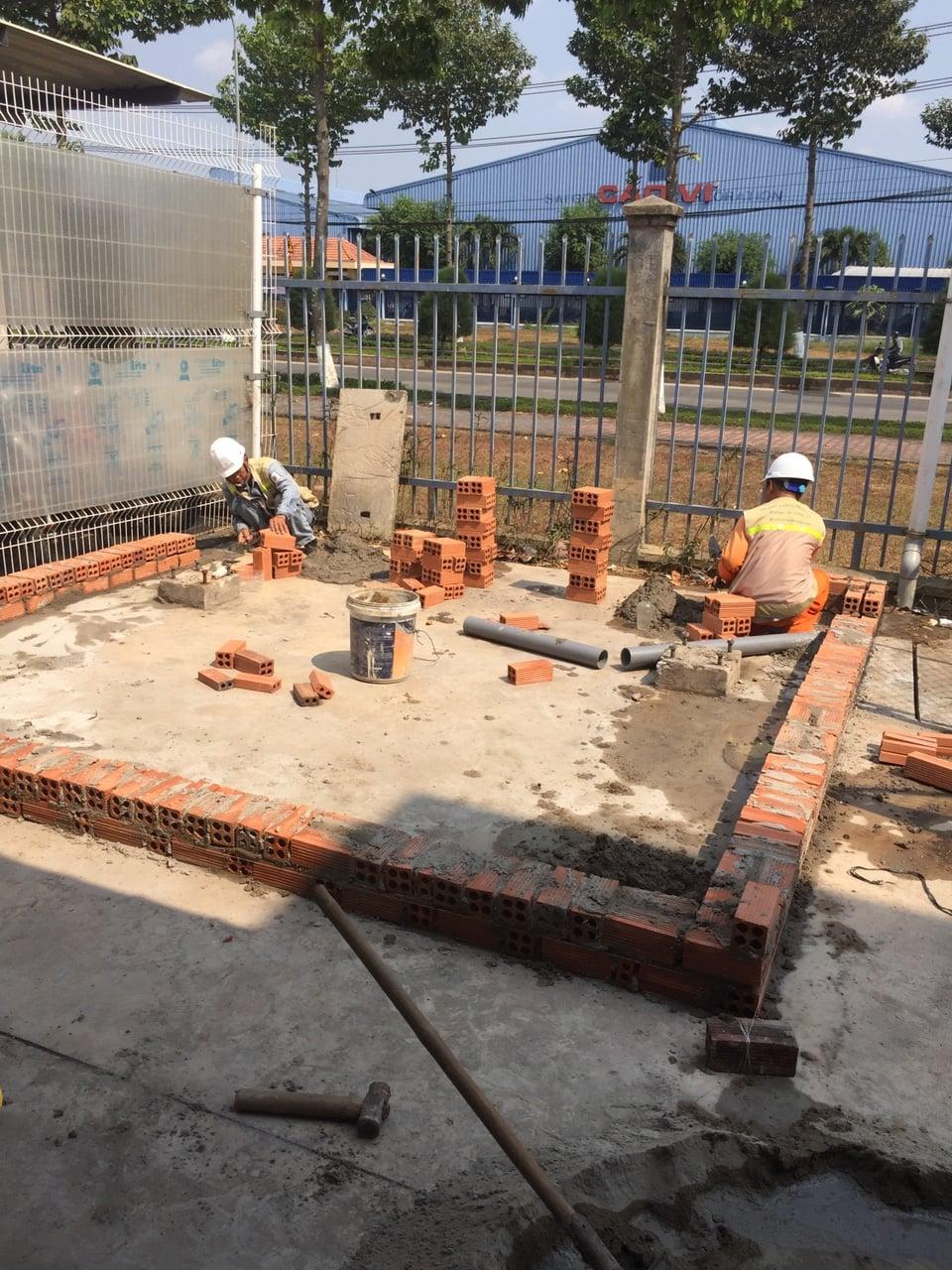 Xây dựng trạm biến áp đặt nền 1500KVA P2 | Công tác xây gạch, đá, công tác trát, ốp, lát