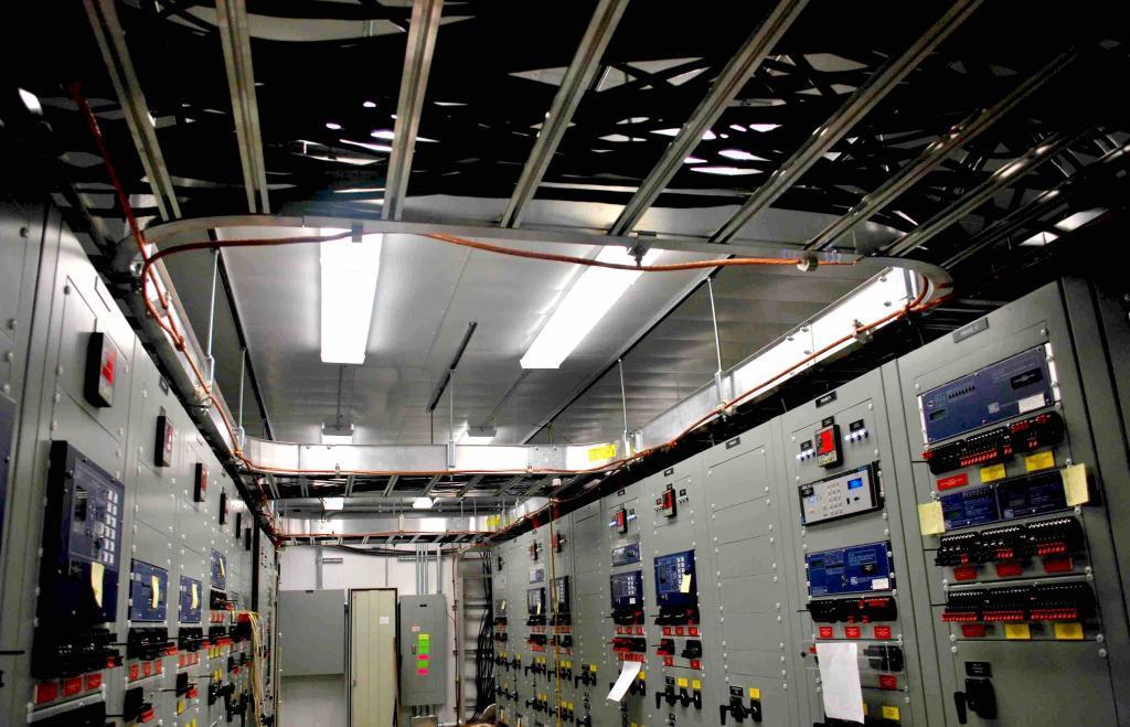Relays inside a control building