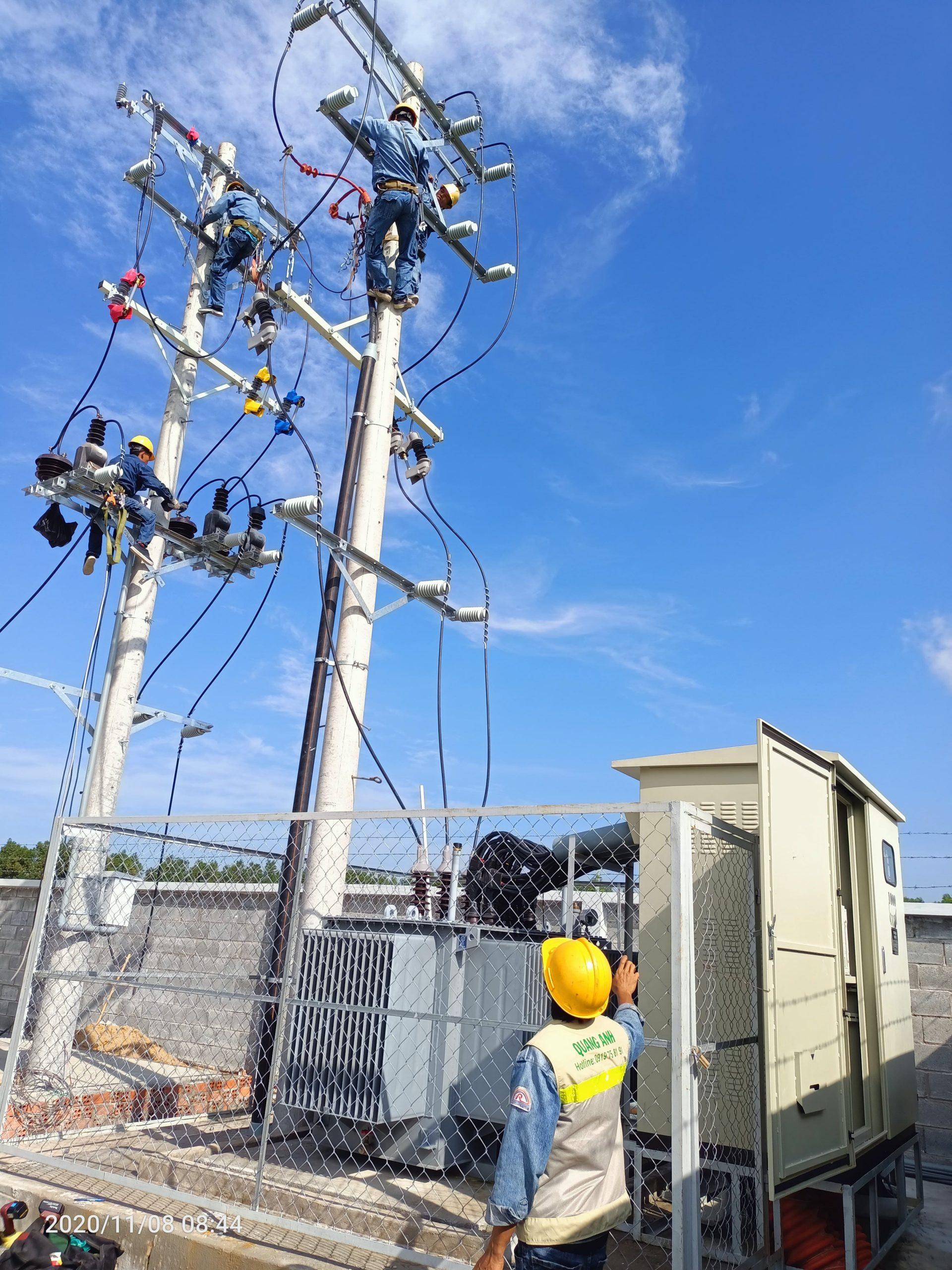 xây lắp điện Quang Anh